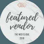 Featured Wedding Vendor   The Wed Clique 150x150 O nas