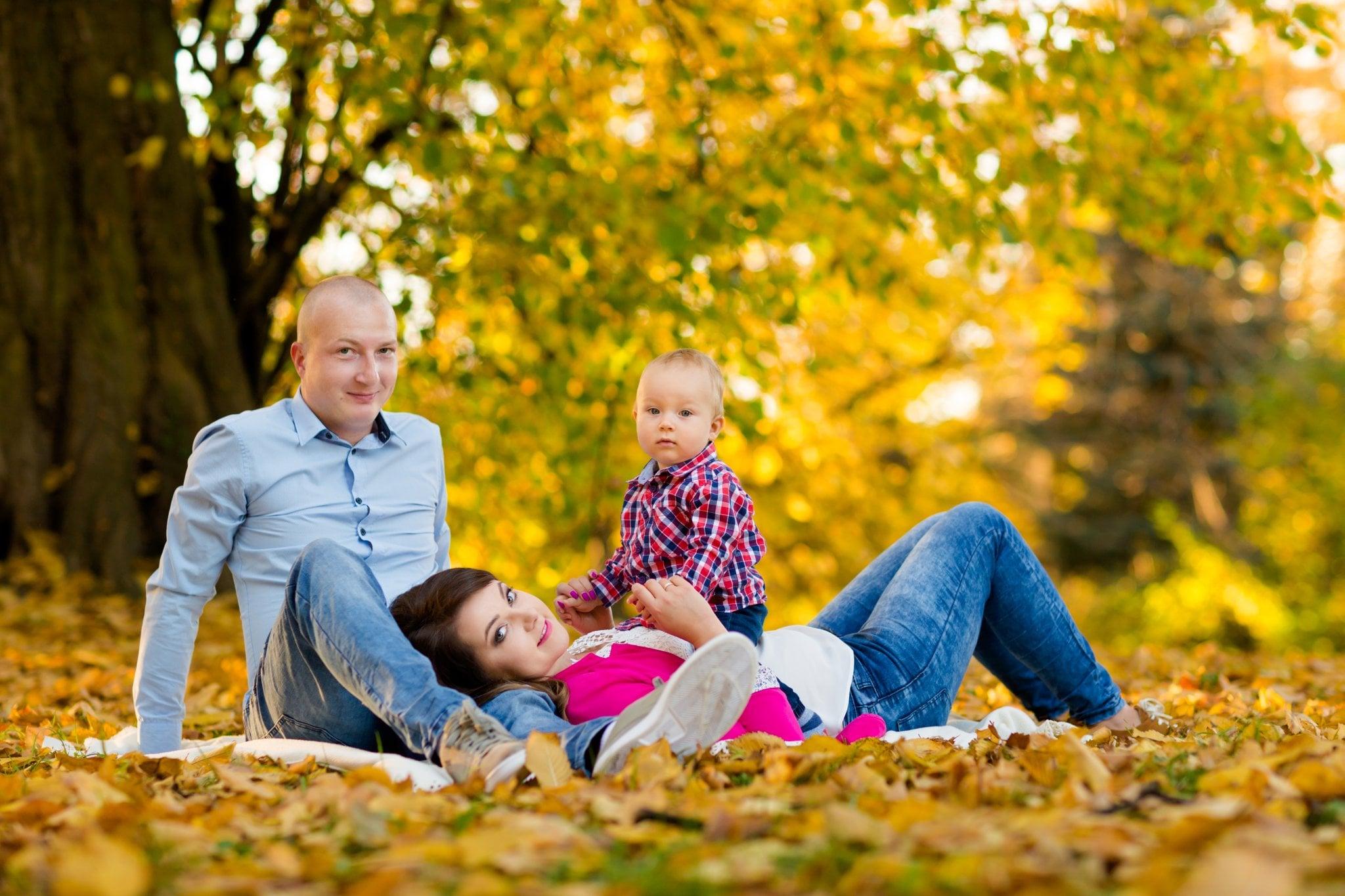 fotografia rodzinna pszczyna 10 Jesienna sesja rodzinna w parku