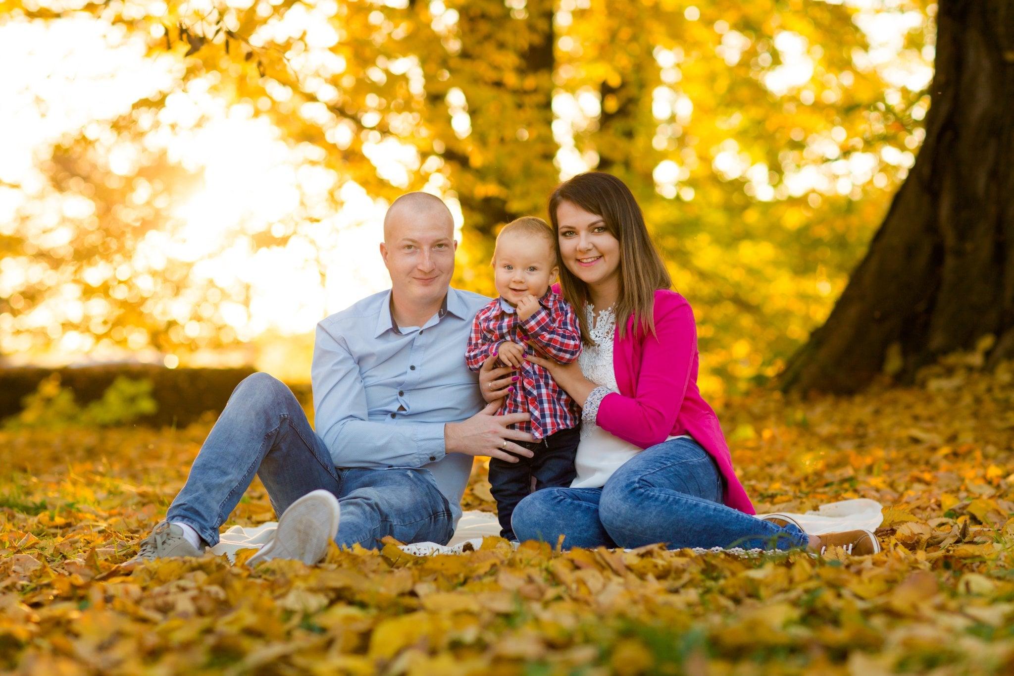 fotografia rodzinna pszczyna 11 Jesienna sesja rodzinna w parku