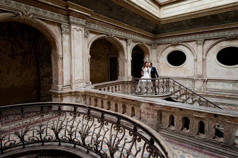 fotografia slubna slask sesja w palacu 1(pp w768 h512) Sesja ślubna w opuszczonym pałacu   Gabi & Krzyś