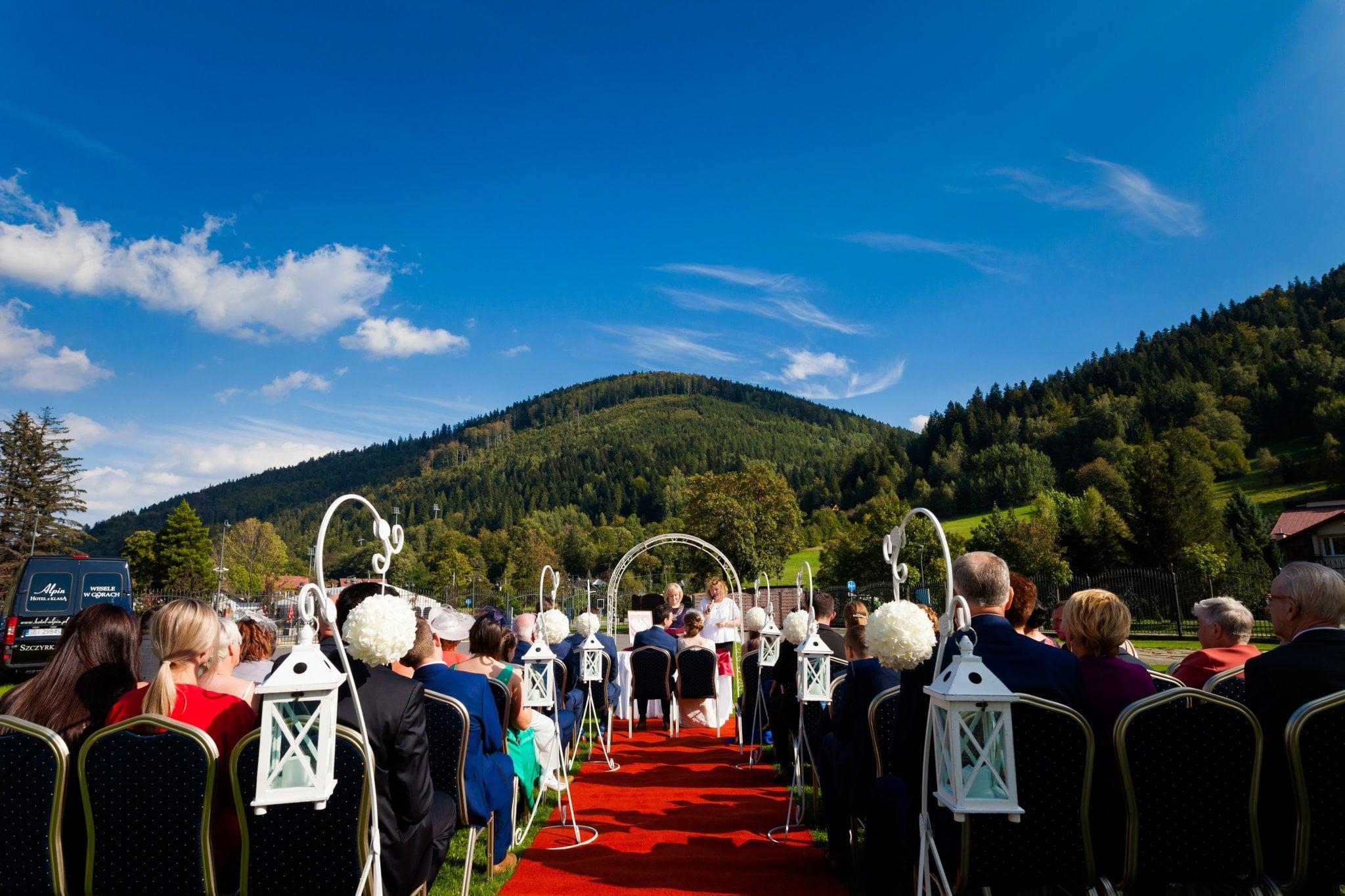 wesele w szczyrku slub plenerowy 24 Ślub i wesele w Szczyrku   Joanna & Marc